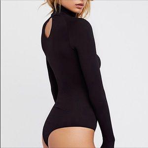 🆕 Free People turtleneck bodysuit keyhole back